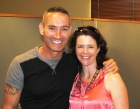Jane with 'Blue Wiggle' Anthony Field
