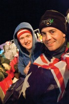 Young Aussies attend Anzac Day services in Gallipoli, image courtesy Topdeck