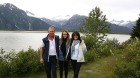 Karen Flook and family in Alaska