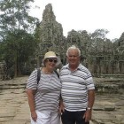 Gwen Jones with husband Tom at Angkor Wat